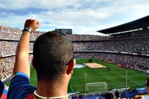 Das ausverkaufte Stadion vom Fc Barcelona