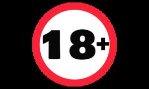 Logo 18+ symbolisiert das Wetten erst am 18 Jahren